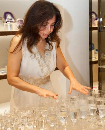 Beautiful glass harp player in Dubai