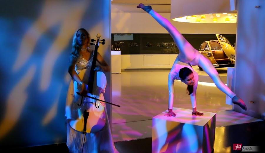 Cellist & contortionist for special events