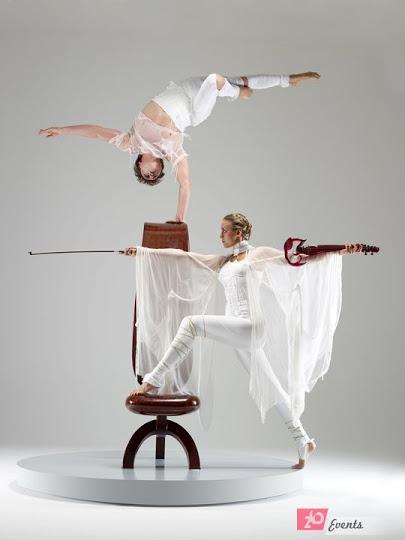 Equilibrist & violin show for ceremonies