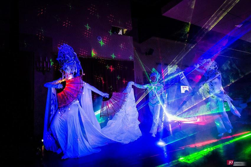 Illusion laser show for corporate event