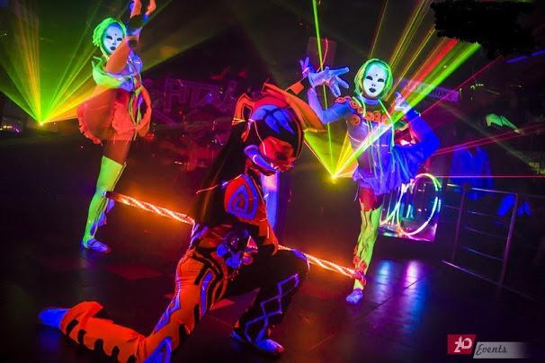 Illusion laser show for public events
