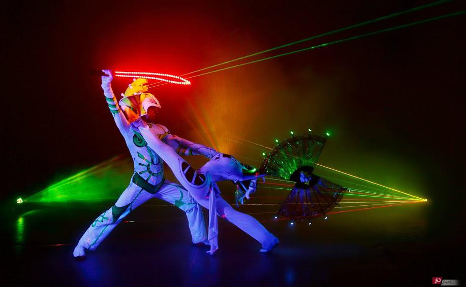 Illusion laser show for special events