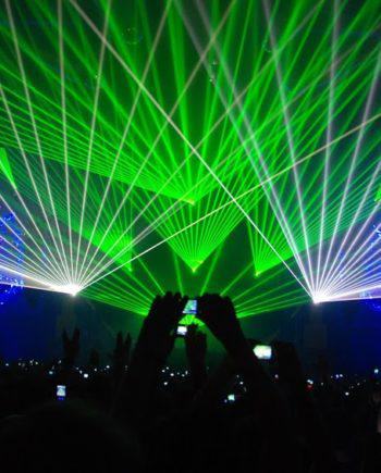 Laser beams in Dubai