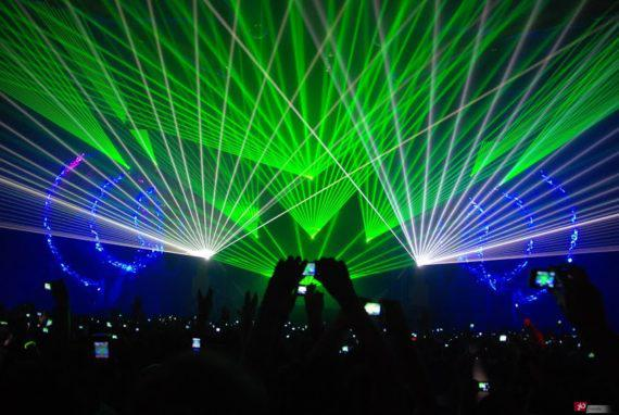 Laser beams for corporate events