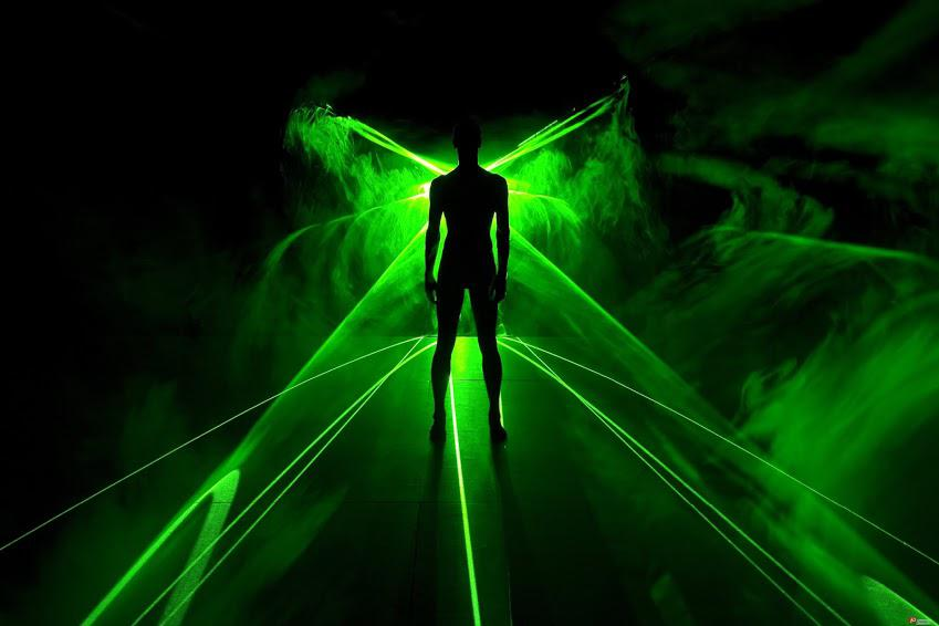 Laser beams for public event