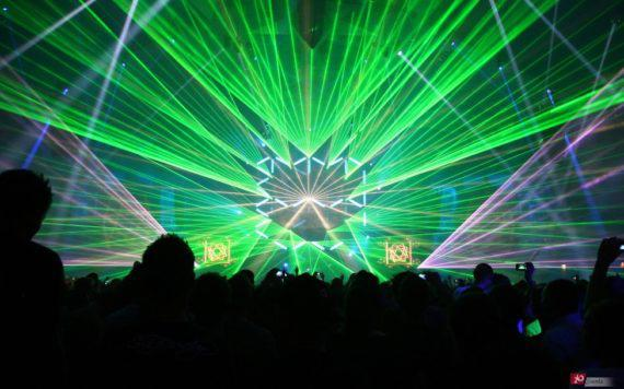 Laser beams for concerts