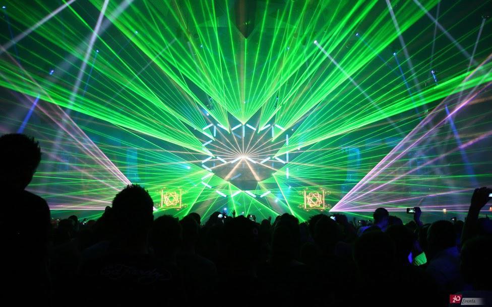Laser beams for concerts