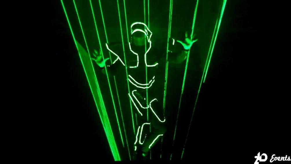Laserman show for corporate events