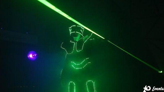 Laserman show for gala dinner