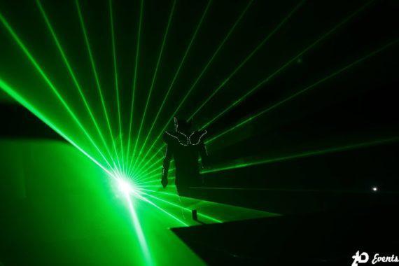 Laserman show for public events