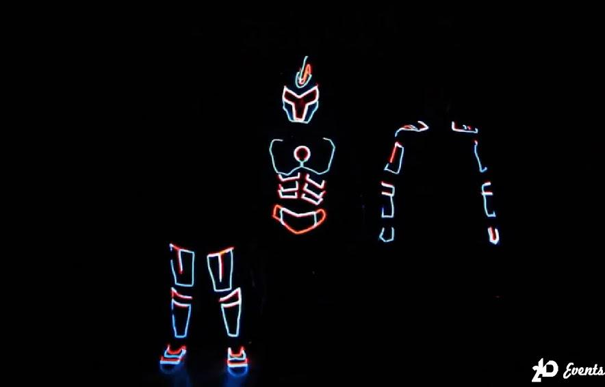 LED gladiators show for private events