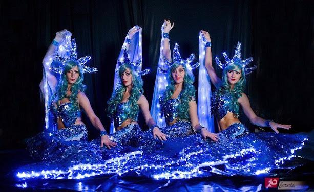 Beautiful LED mermaids for themed events