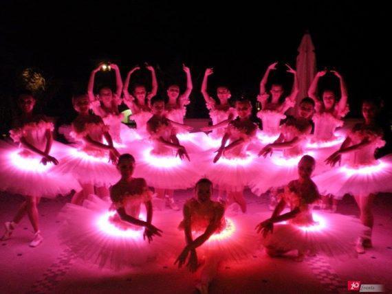 Breathtaking LED ballet for gala dinners