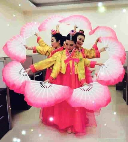 Chinese fan dancers for festivals