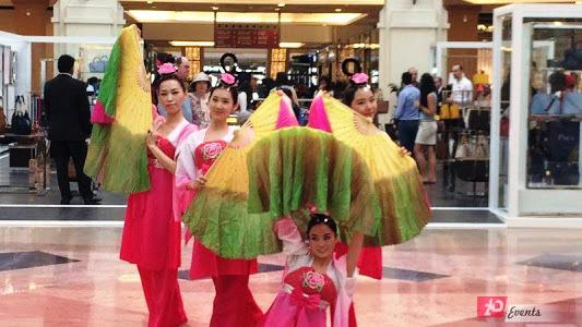 Chinese fan dancers for mall activities