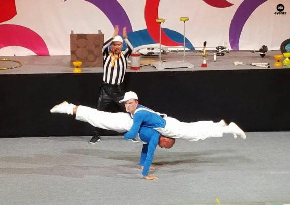 Comedy acrobats for themed events