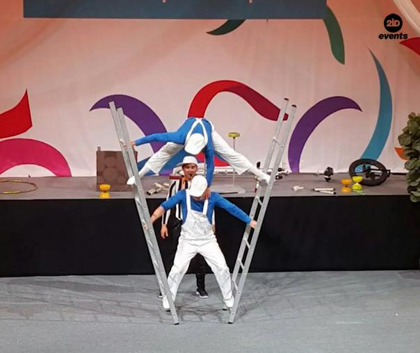 Comedy acrobats for private events