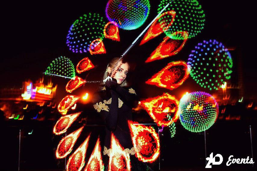 Duo LED pixel poi for festivals