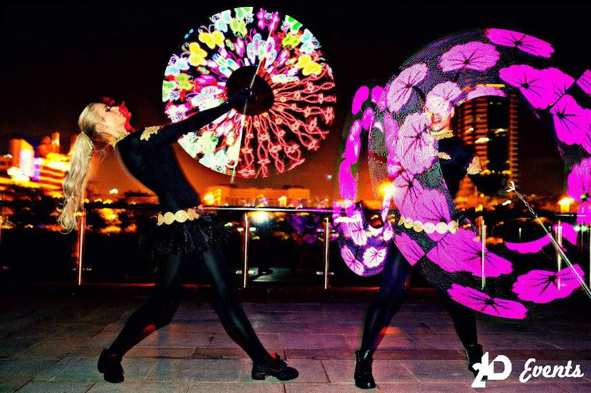 Duo LED pixel poi for private events