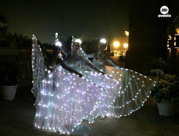 LED butterflies performance for product launches