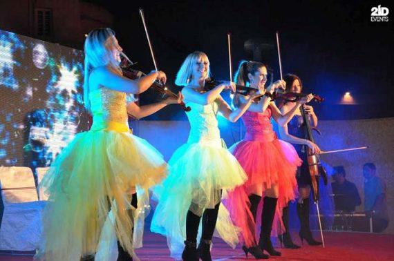 LED string quartet for corporate events