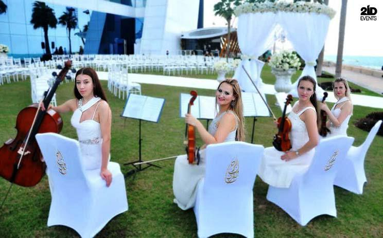 LED string quartet for ceremonies
