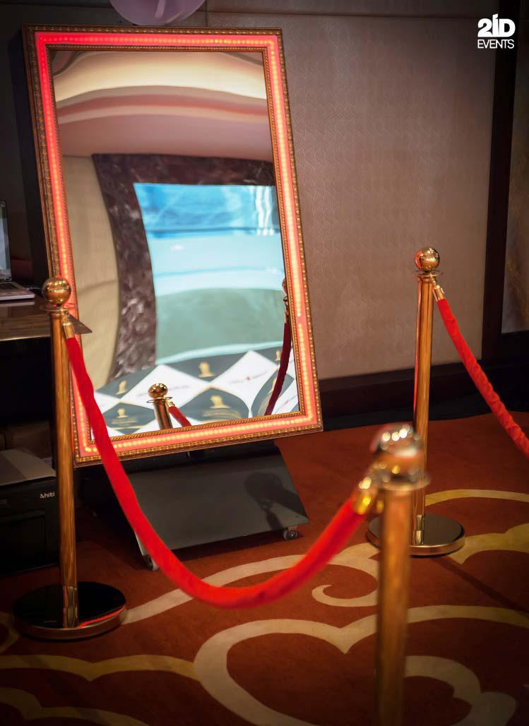 Mirror photo booth for corporate events