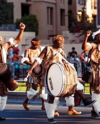 African drummers in Dubai