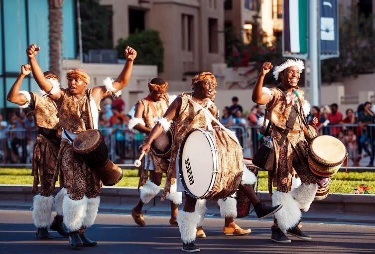 African drummers for National Day