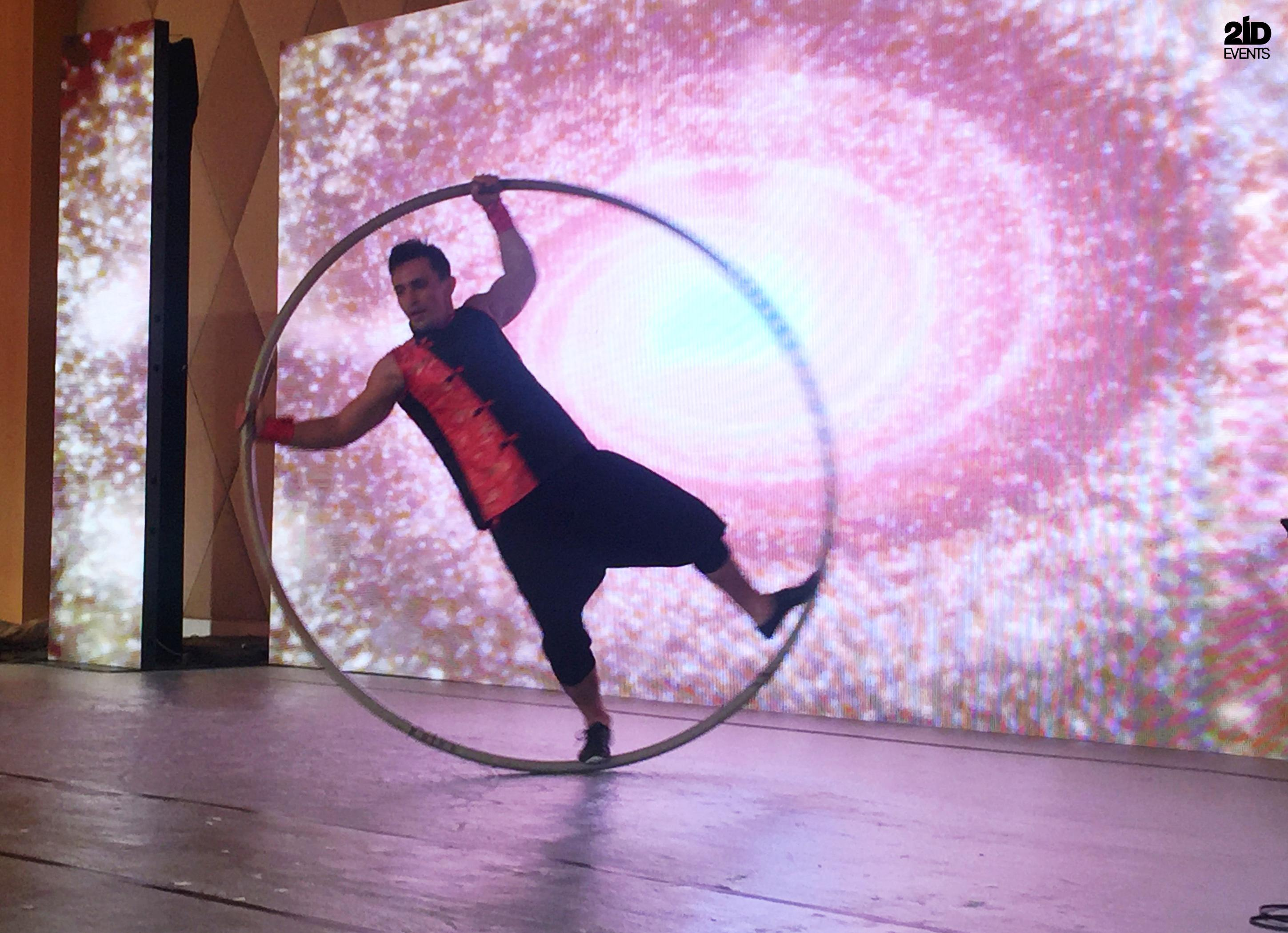 Cyr Wheel Show for corporate events