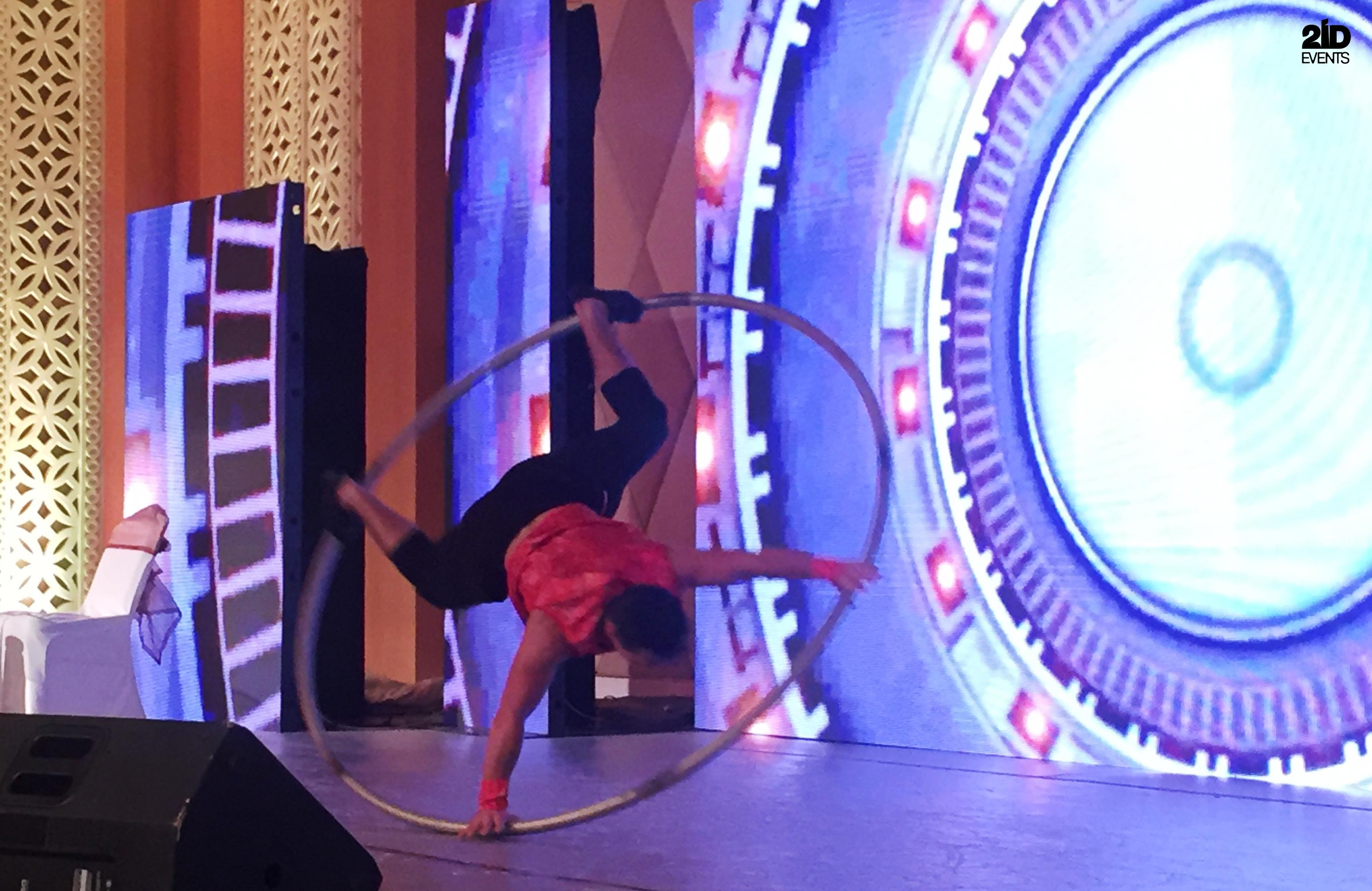 Cyr Wheel Show for product launches