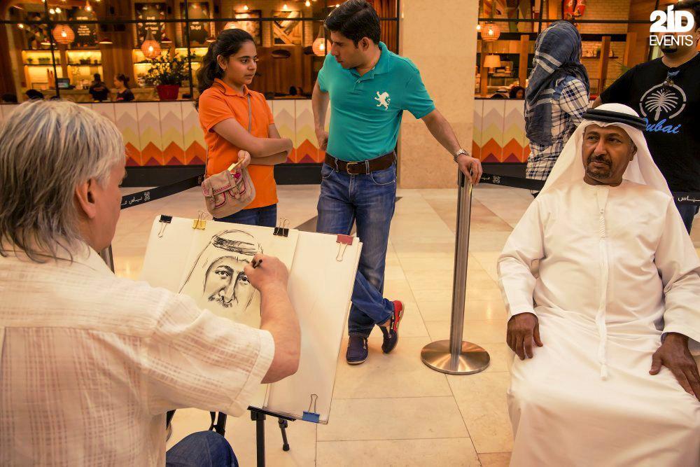 Portraitist for mall activities