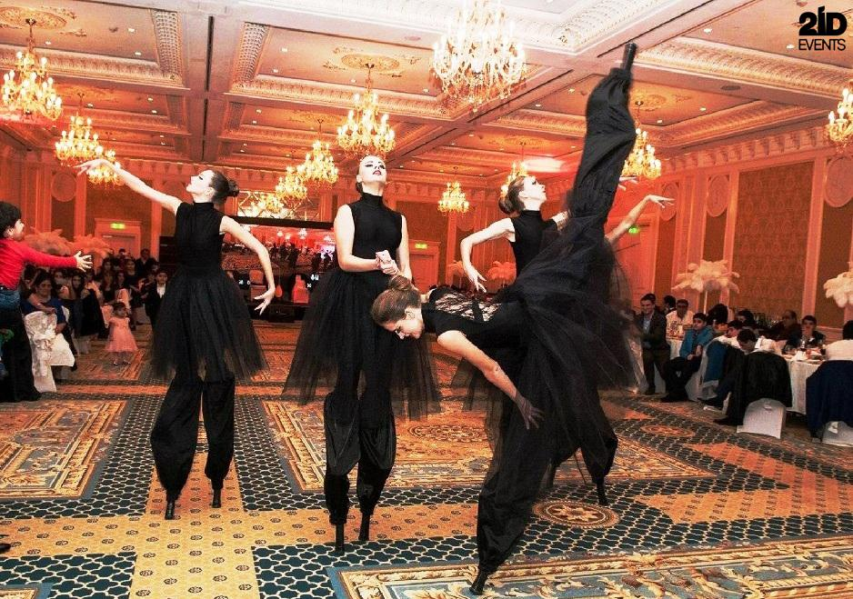 Stilt Walkers Female Dancers for gala dinners