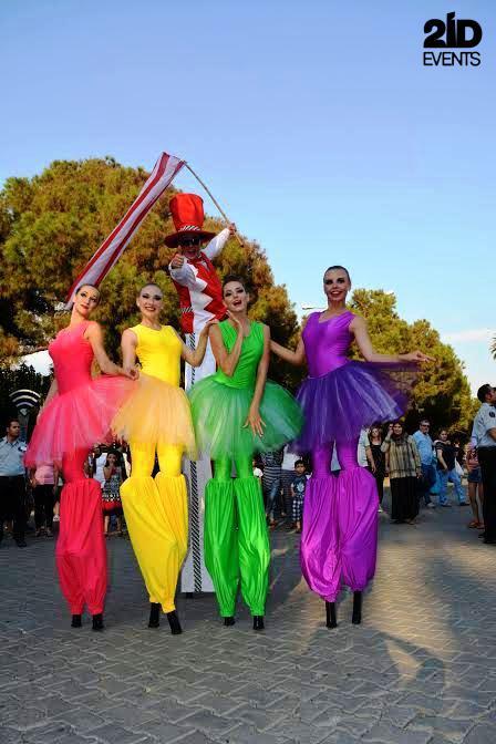 Stilt Walkers Female Dancers for fesivals