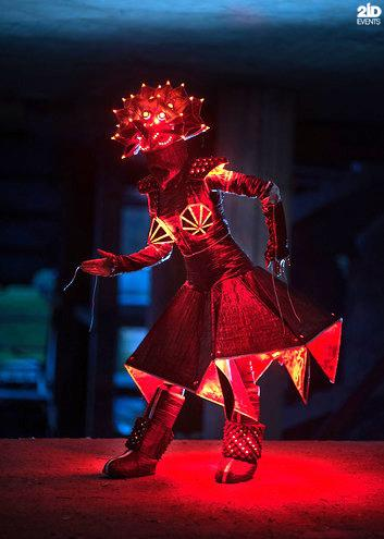 LED Origami Dance Show for special event