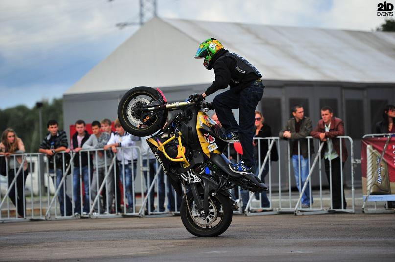 Motorbike stunt show for sports events