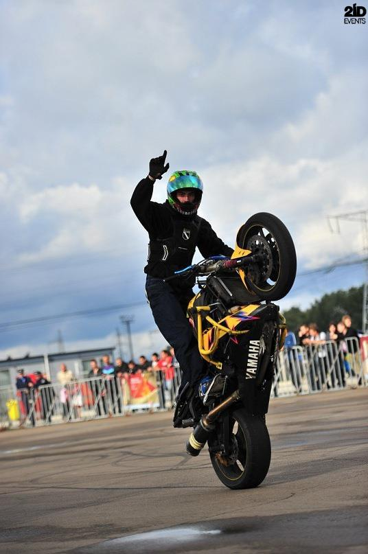 Motorbike stunt show for promo events