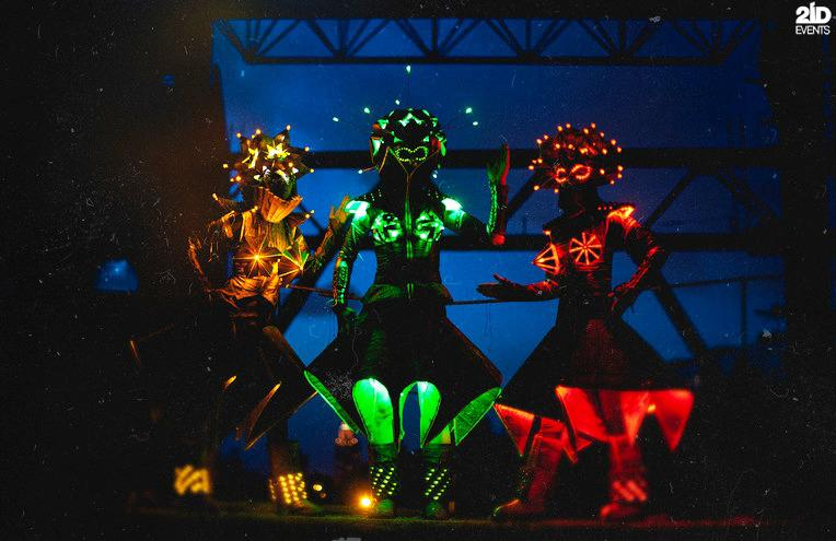 LED Origami Dance Show for private event