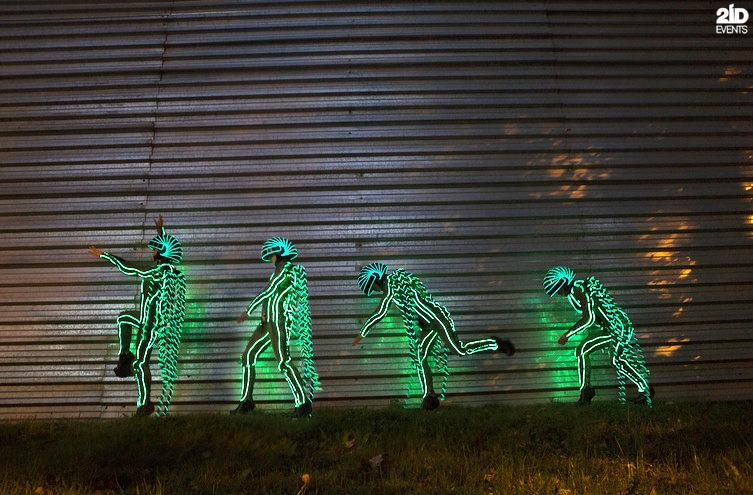 LED Skywalkers for corporate events