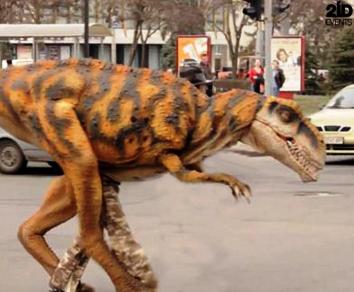 Dinosaur for the gala dinner