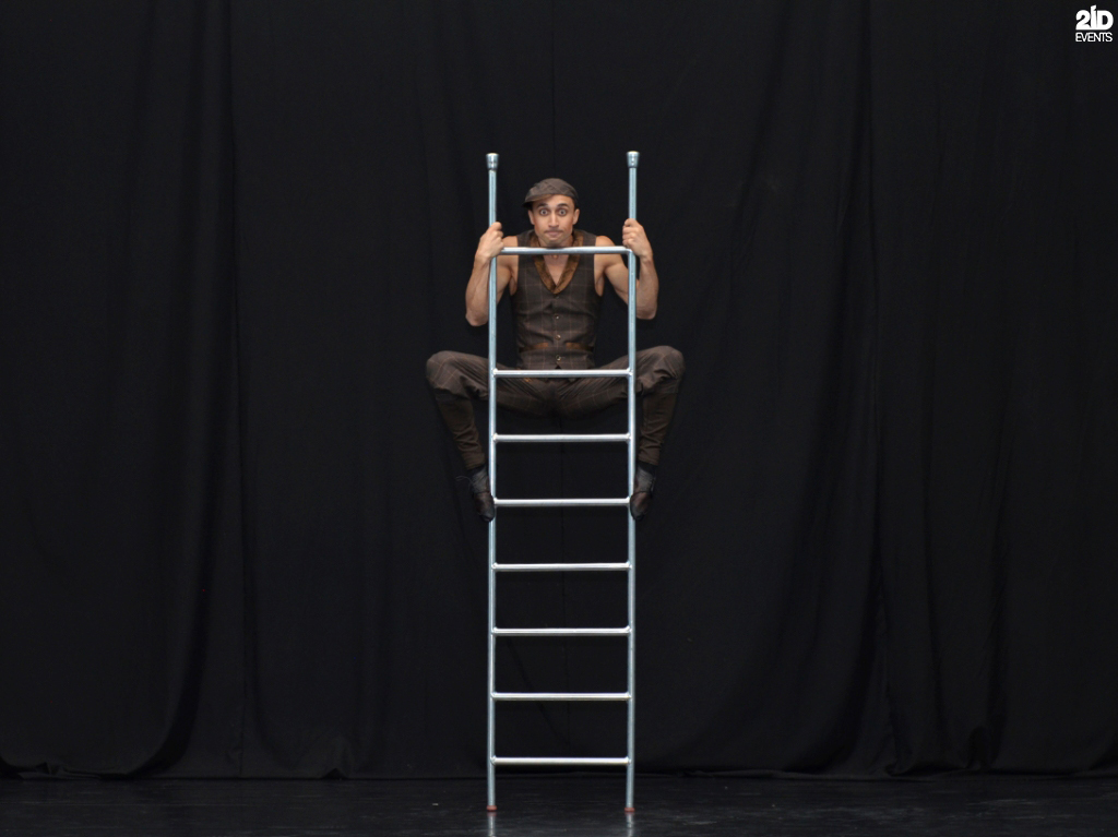 Ladder Acrobat for corporate events