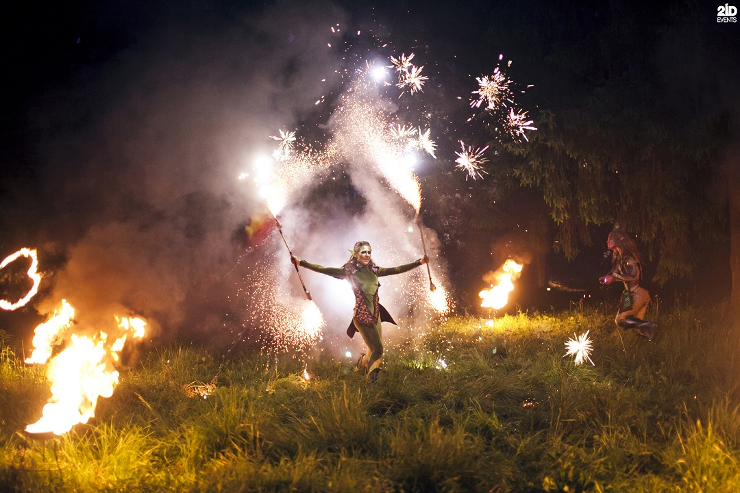 Mystical Fire Show for corporate events