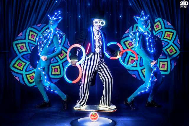 LED Juggler for festivals