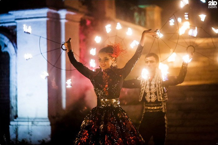 Theatrical Fire Show for private events