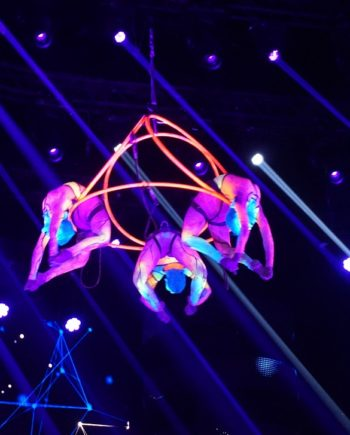 Neon Contortion Trio in the UAE