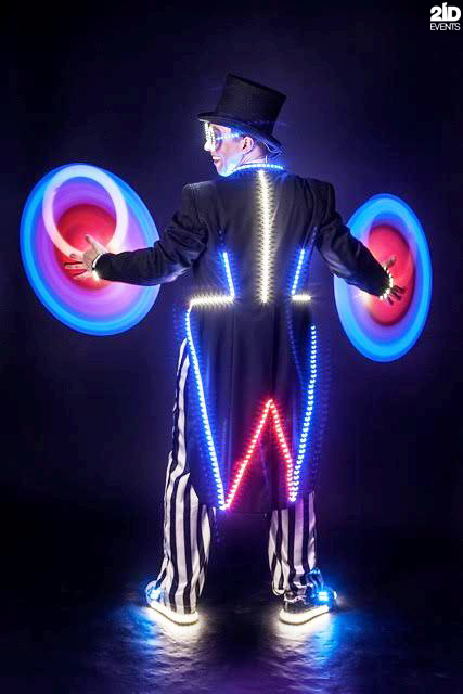 LED Juggler for themed events
