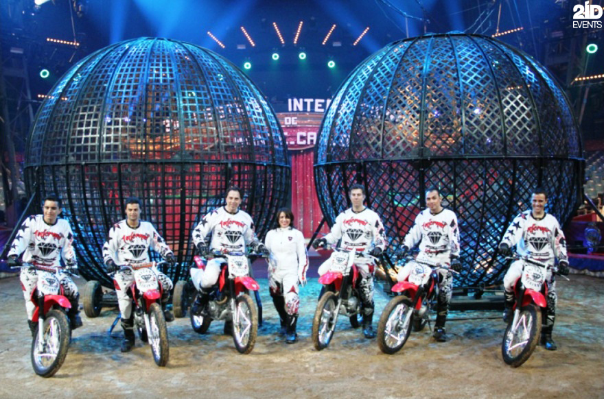 Steel Globe Motorcycle Stunt Show for themed events