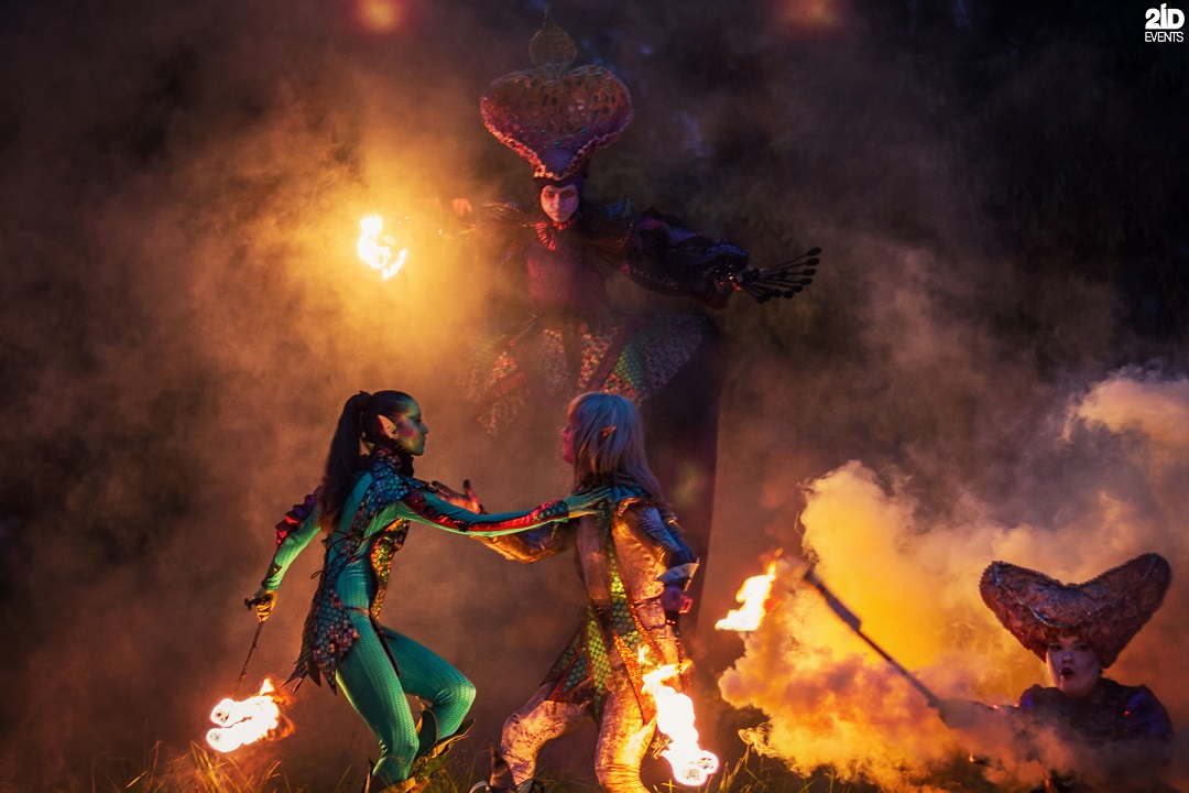 Mystical Fire Show for outdoor occasions