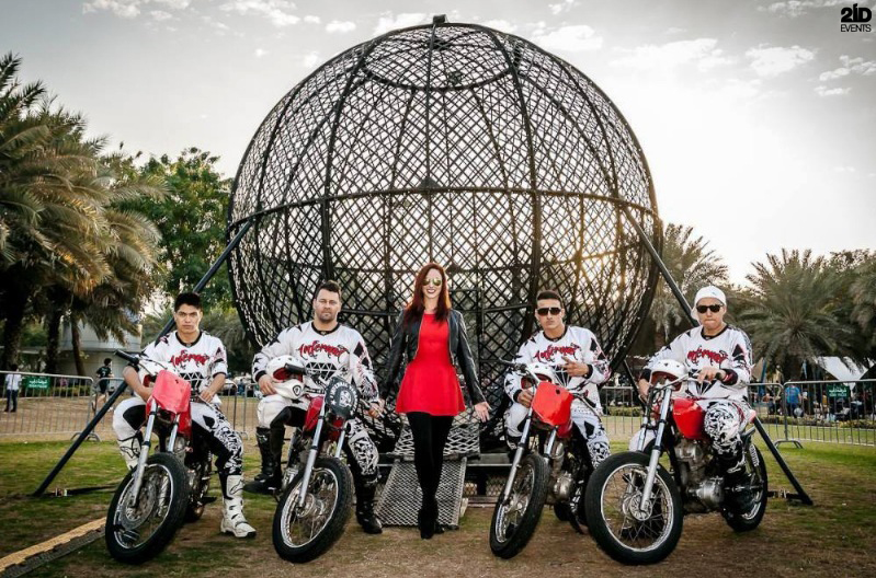 Steel Globe Motorcycle Stunt Show for special events