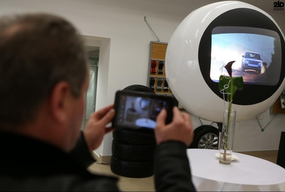Futuristic Screen Globe for exhibitions